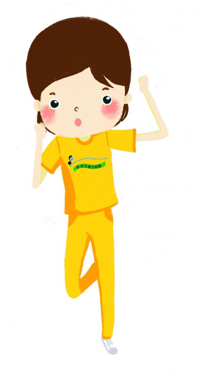 黃色夏季運動服
